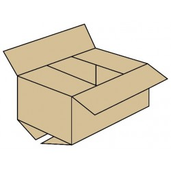 Caja con solapas normales
